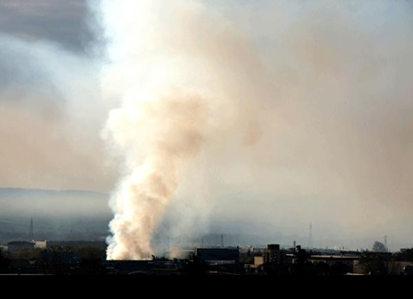 incendio materiale tossico fabbrica solventi giugliano