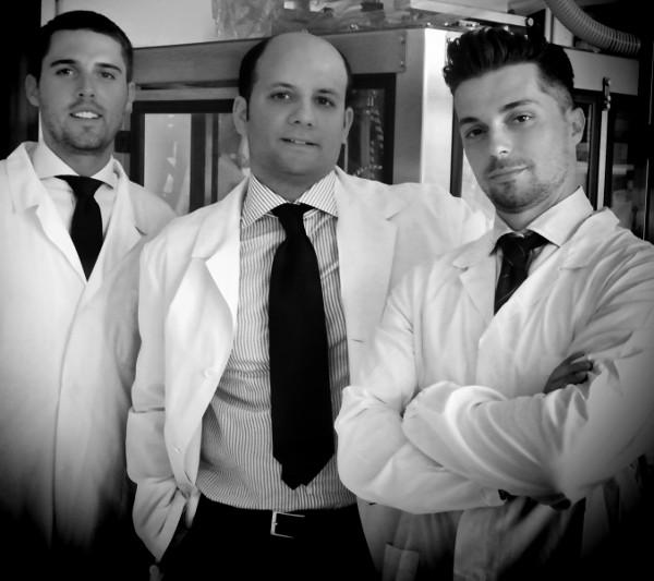 I fondatori di Officina Italica. Da sinistra Matteo Del Bosco, Giuseppe Fusco e Tommaso Sansoni