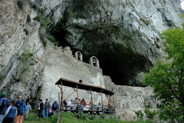 Ingresso alla Grotta di San Michele Arcangelo
