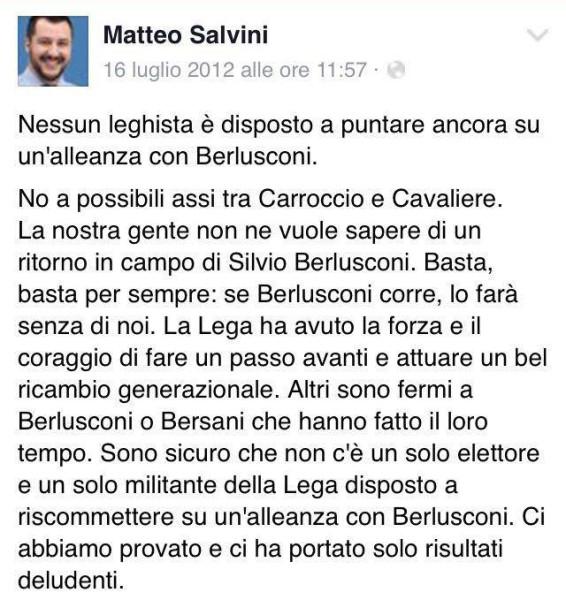 Salvini contro berlusconi