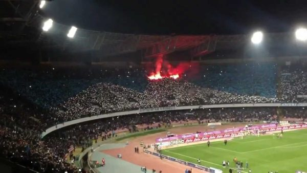 Coreografia Curva B Napoli Juventus Terra Mia Vesuvio