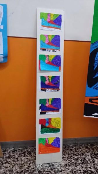 """Riproduzioni della tela """"Vesuvio"""" di Andy Warhol"""