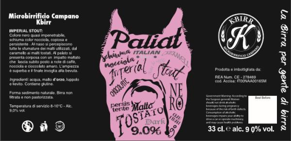 "Etichetta birra ""Paliat"""