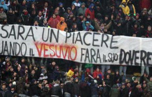 Striscione Bologna anti Napoli