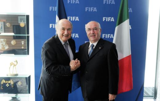 Sarri, Blatter e Tavecchio