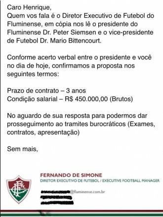 Lettera Fluminense Henrique