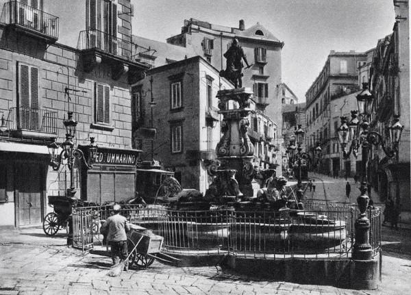 fontana di monteoliveto con la recinzione