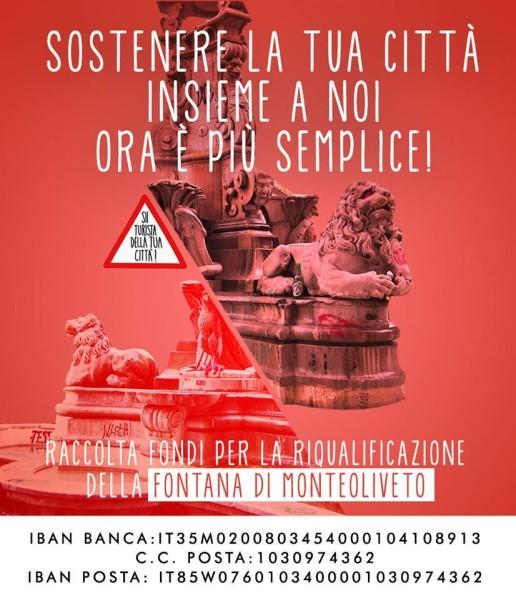 raccolta fondi recinzione fontana di monteoliveto