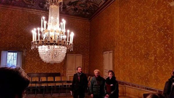 Il salone da ballo di Palazzo de' Liguoro
