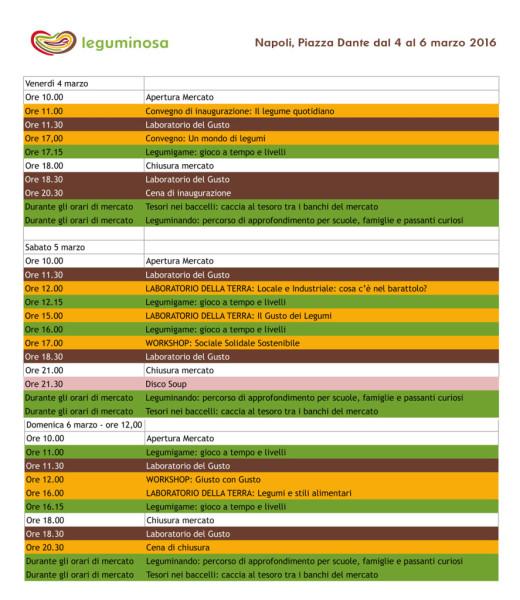 Programma leguminosa