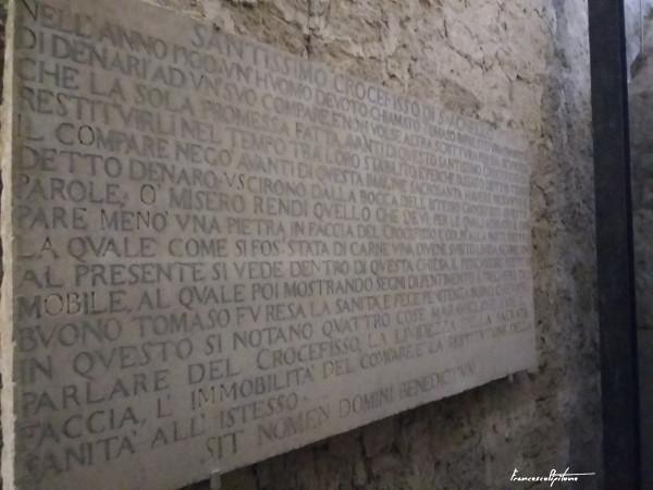 Lapide del crocifisso di Sant'Agnello