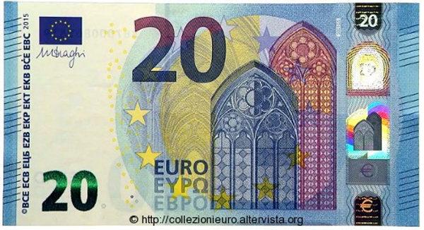 nuove banconote 20 euro false