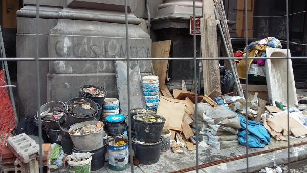 spazzatura galleria principe