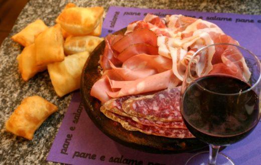 Gnocco e vino