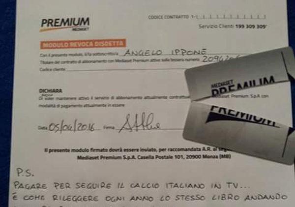 disdetta abbonamento mediaset premium