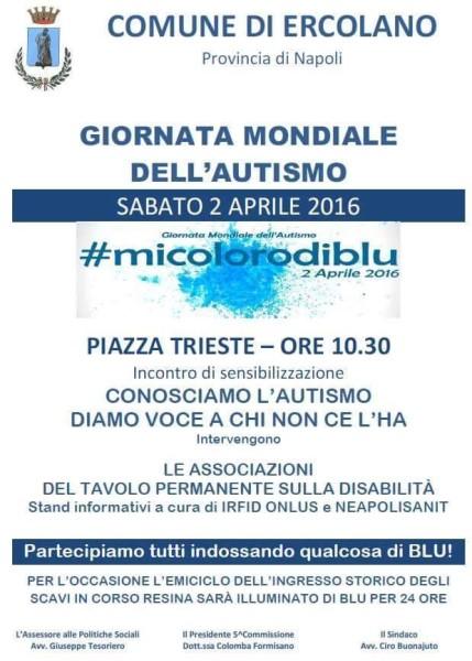 giornata mondiale autismo mi coloro di blu