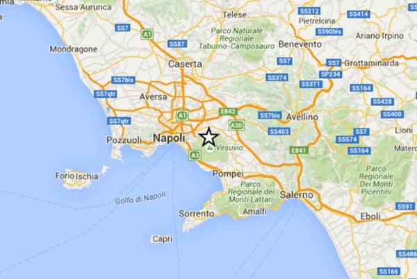 scossa terremoto vesuvio
