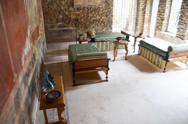villa imperiale pompei triclinio