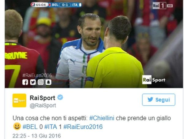 Chiellini Tweet
