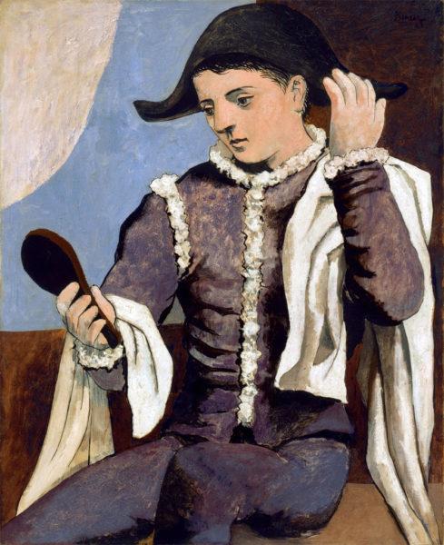 Arlecchino con specchio, Pablo Picasso