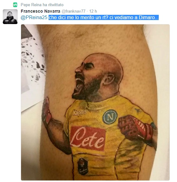 Twitter tatuaggio Reina