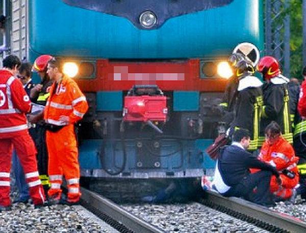 investito treno morto