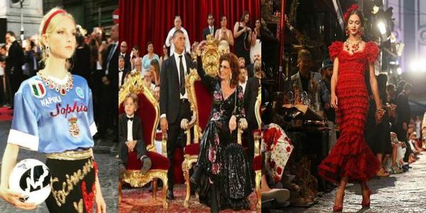 new concept f3f00 2a75d Video e Foto. La sfilata di Dolce & Gabbana a San Gregorio ...