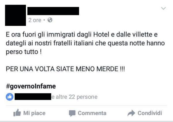 Facebook Terremoto