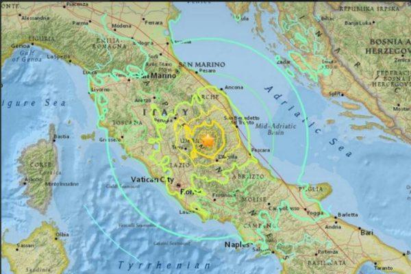 Terremoto centro Italia, la Colonna mobile della Regione Toscana a Rieti