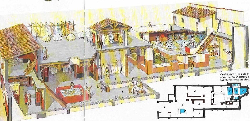 Ricostruzione della Fullonica di Stephanus