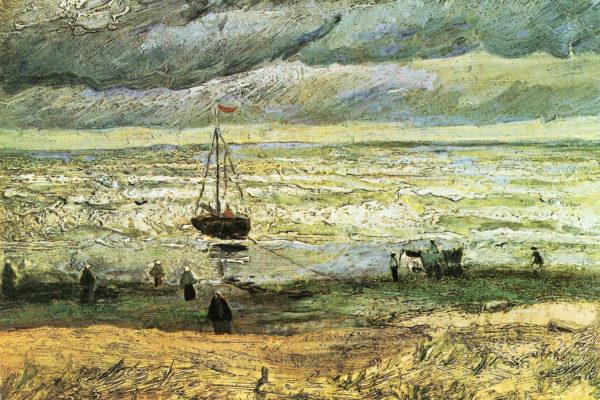 La spiaggia di Scheveningen prima della tempesta
