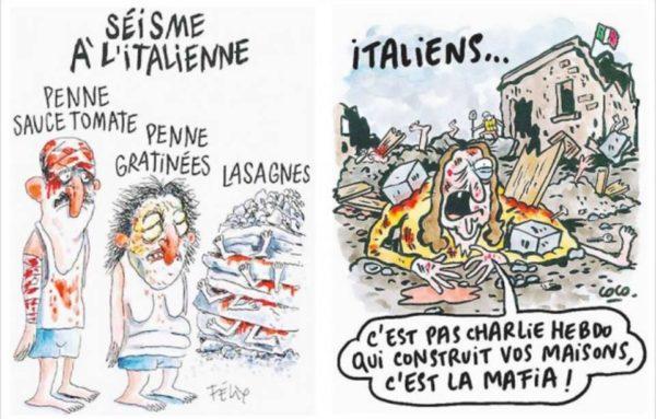 Vignette satiriche, il Comune di Amatrice querela Charlie Hebdo