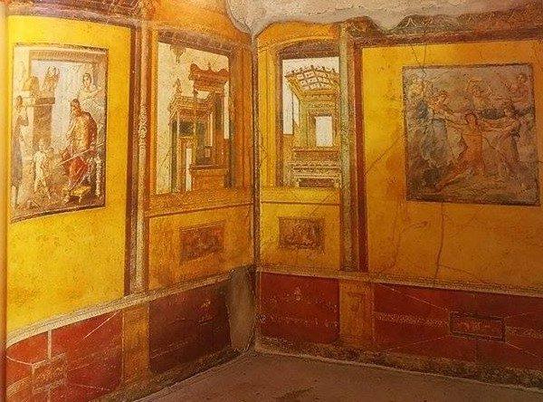 """Casa dei Vettii, Pompei (tratto da """"Pompei. Guida agli scavi"""", fotografie di Alfredo e Pio Foglia)"""