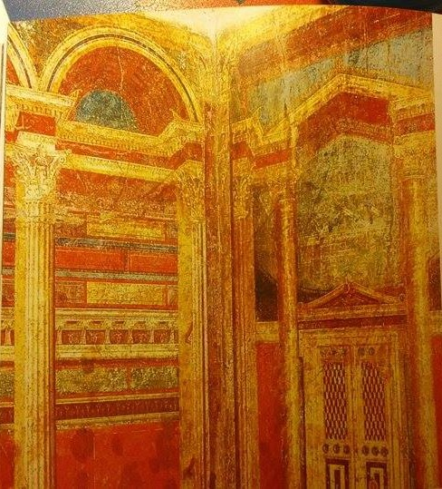 """Villa dei Misteri, cubicolo, Pompei (tratto da """"Pompei. Guida agli scavi"""", fotografie di Alfredo e Pio Foglia)"""