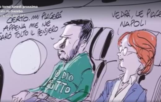 Salvini a Napoli Gazebo