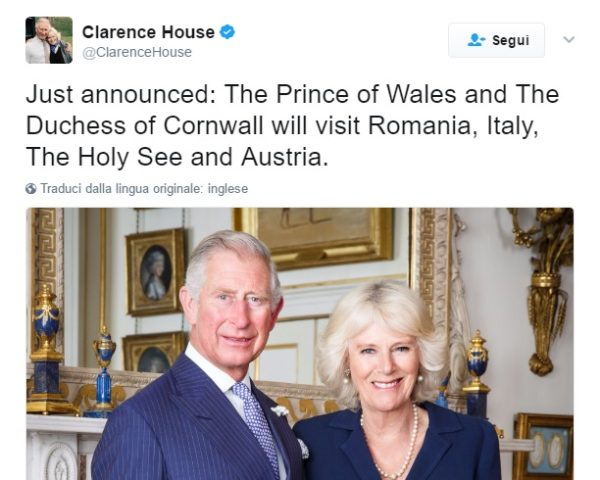 Carlo e Camilla in Italia