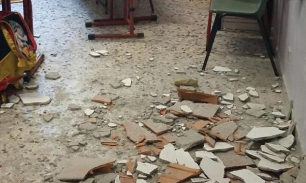 Sarno, paura in una scuola elementare: crolla soffitto di un'aula