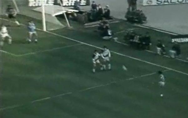 Napoli-Udinese punizione Maradona