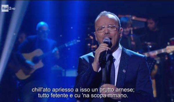 Made in Sud, Gigi D'Alessio emoziona tutti cantando 'A livella di Totò