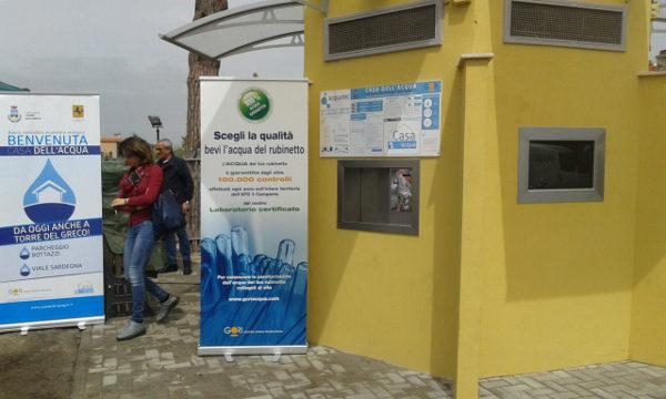 FOTO/ Nuova Casa dell'Acqua: ecologica, controllata e a soli 3 centesimi a litro