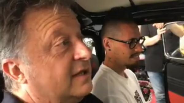 Hamsik tiene a battesimi il MotorShow di Napoli