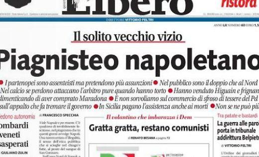 Pagina Facebook contro Napoli
