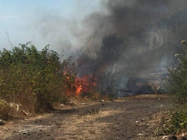 Vasto incendio sul Vesuvio. Case evacuate. Visibile a decine di km