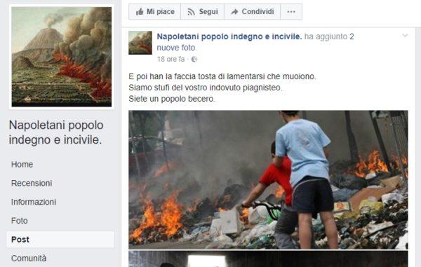 Pagina Fb offende i napoletani: chiesto un milione di danni