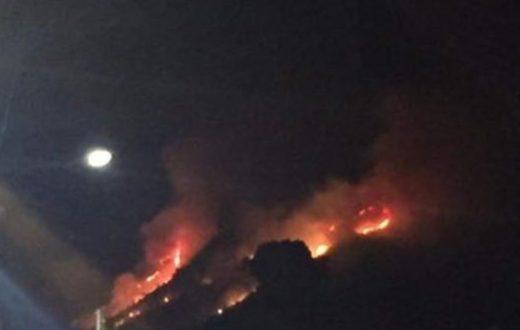 incendio monti lattari