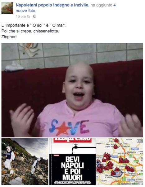 Pagina shock su Fb: offese ai bambini malati