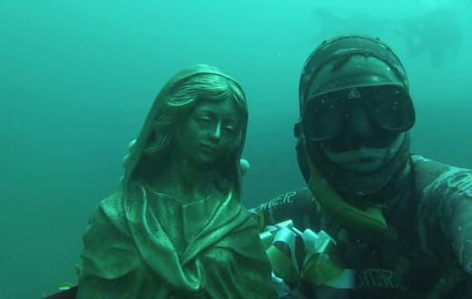 madonna del subacqueo