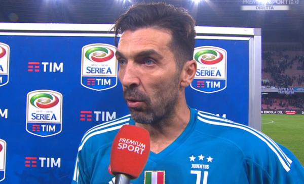 Buffon dopo Napoli-Juve: