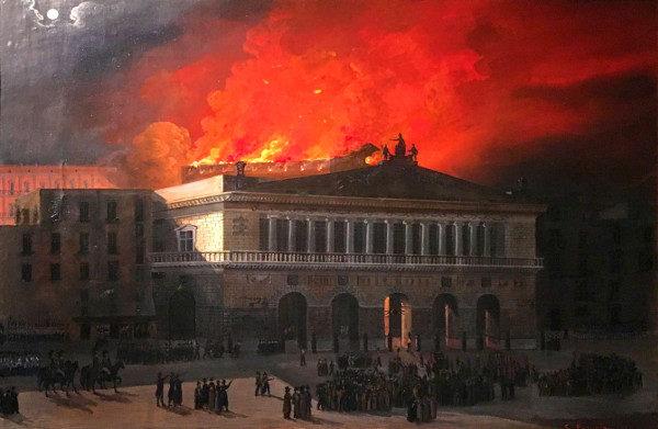 Salvatore Fergola - L'incendio del Real Teatro di San Carlo