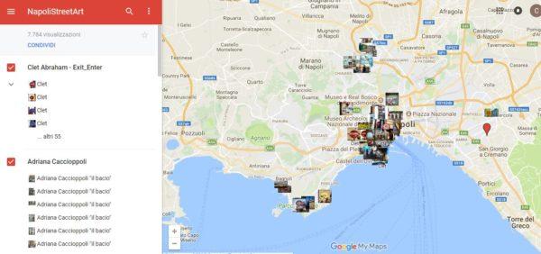 Cartina Napoli.Napolistreetart Una Mappa Interattiva Per Trovare Le Opere